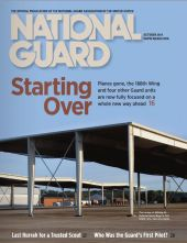 """Courtesy of """"National Guard Magazine"""" Photo by Staff Sgt. Hannah Landerso, 188th Wing Public Affairs"""