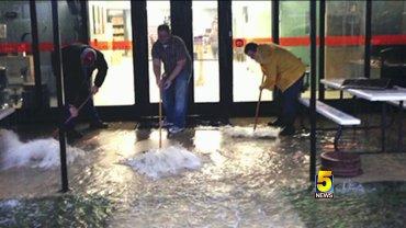 flooded fayetteville school building