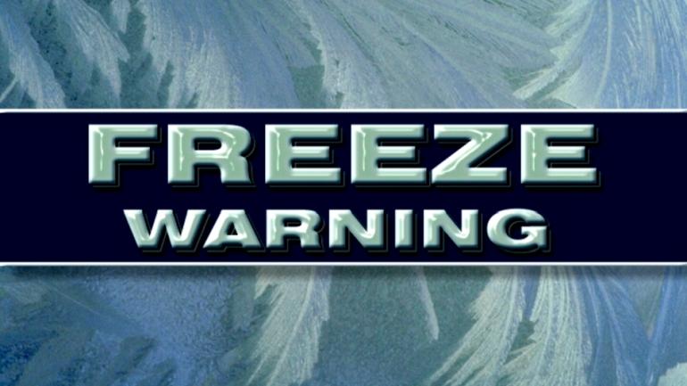 freeze warning graphic