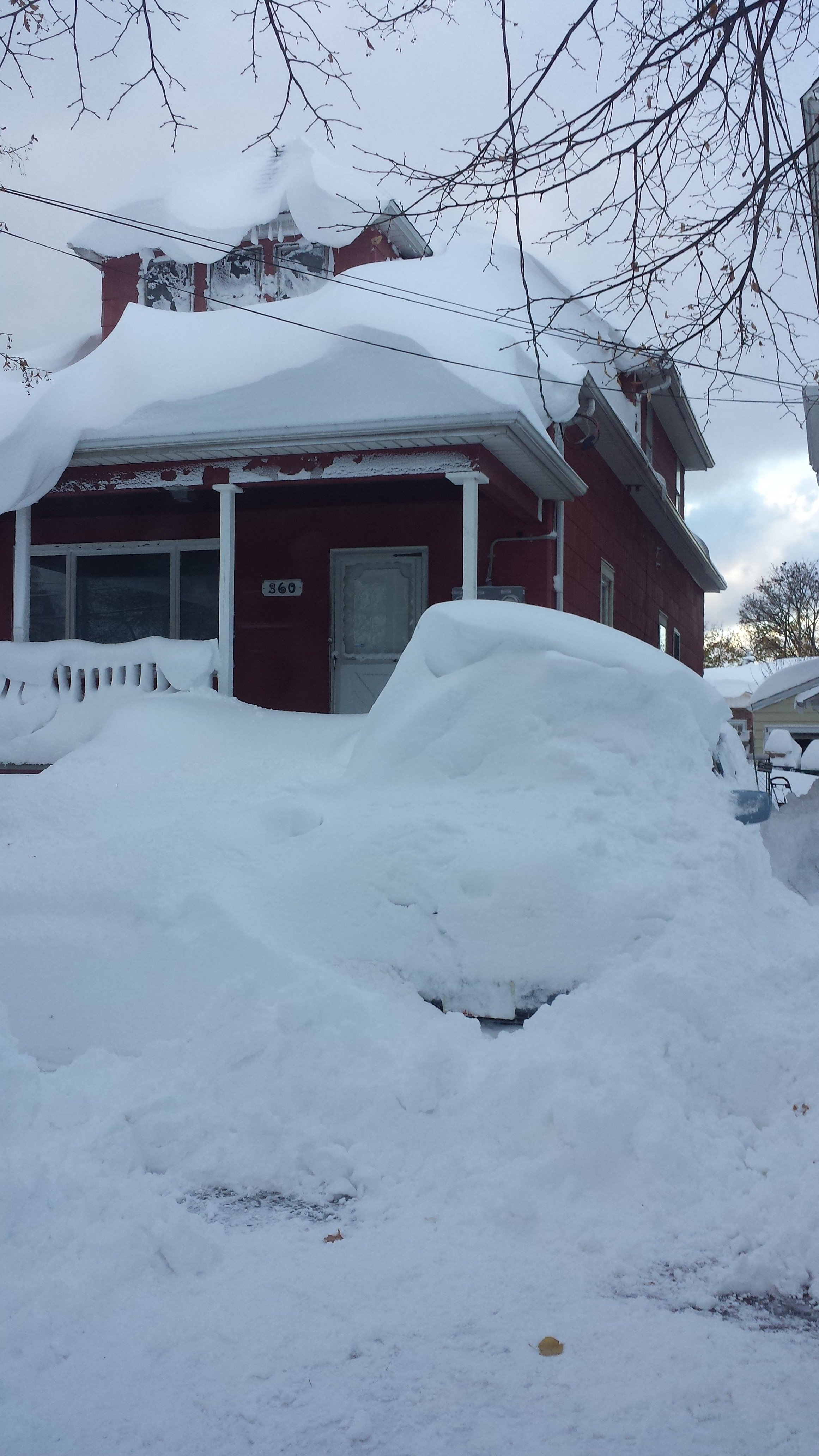 Buffalo, New York buried in 6 feet of snow.