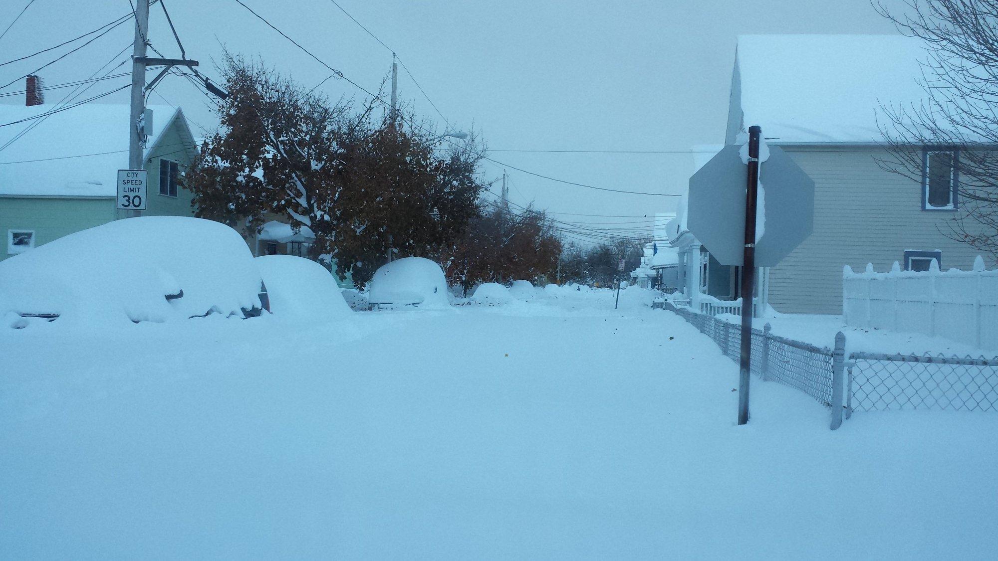 Buffalo, New York buried in 6 feet of snow.
