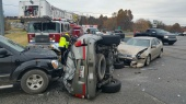 Three-vehicle accident at the intersection of College Ave. and Main Dr.