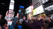 Ferguson protests in Times Square, NY.