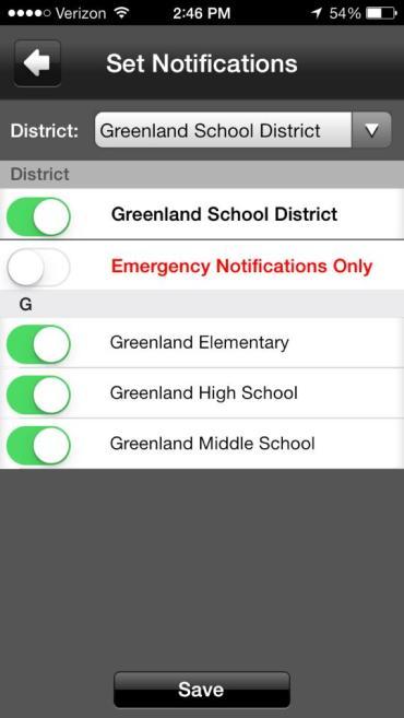 GREENLAND SCHOOLS APP2