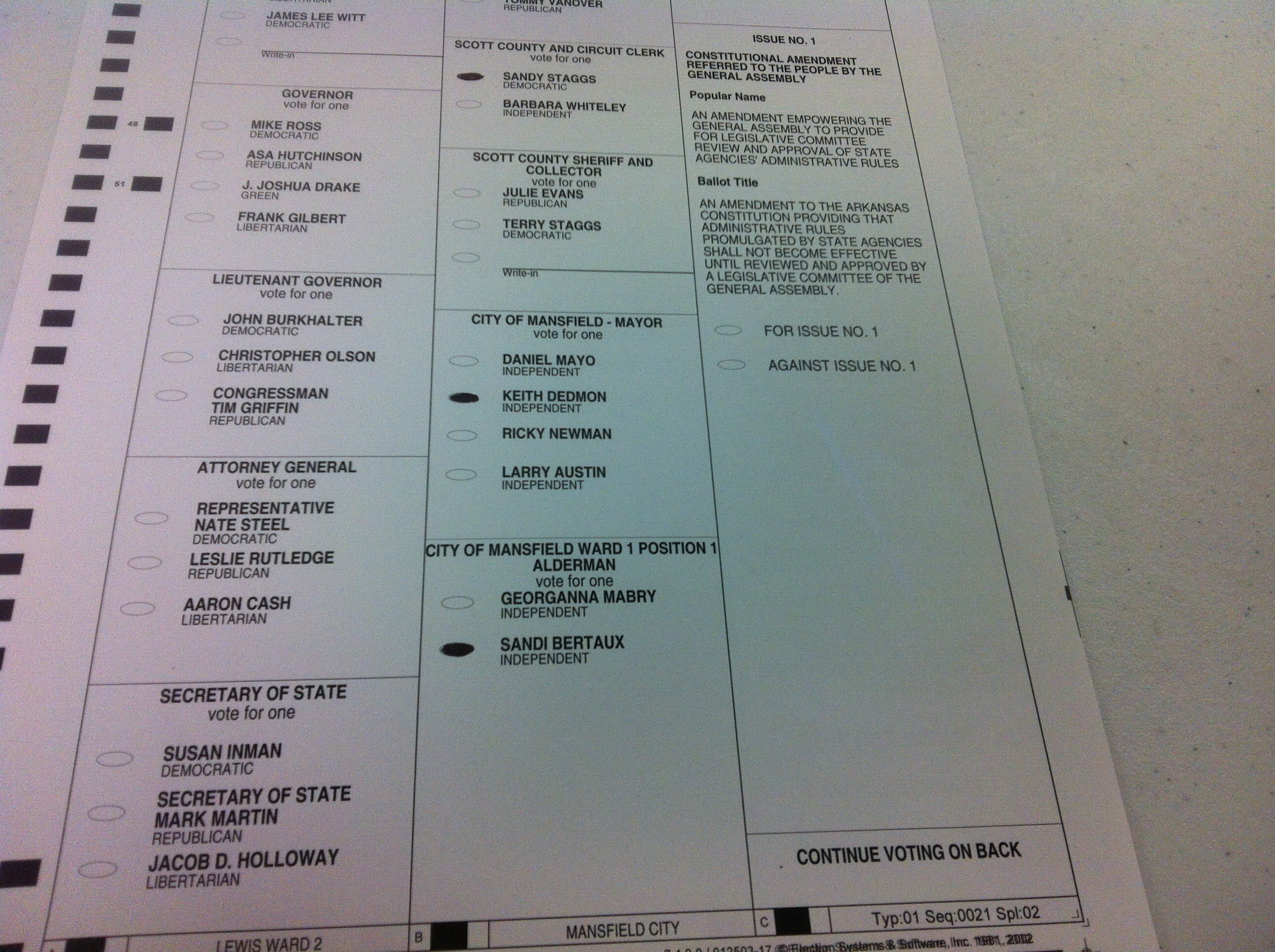 Image result for Ballot for 3 candidates