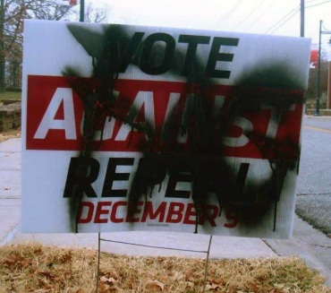 Sign Vandalism