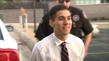 Suspect Ali Matar being escorted to the Benton County Courthouse on day 3 of his trial.