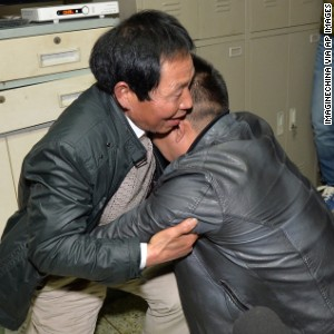 BOY REUNITED WITH FATHER