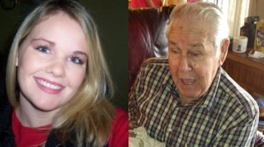 Casey Brace and her grandfather, Herbert Townsend