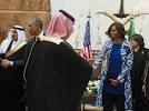 FIRST LADY AND SAUDI KING