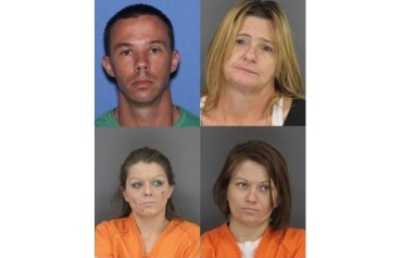 Clockwise: Michael Eugene Smith, Brenda Corley, Kimberly Martindale, Evelynn Woodward (Courtesy: Fort Smith Police Dept.)