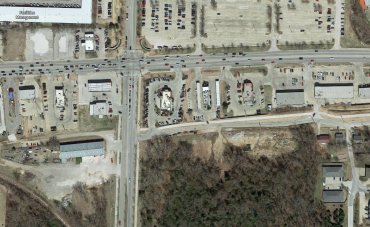 (Courtesy: Google Maps) The intersection of Martin Luther King Jr. Blvd. and Razorback Rd. in Fayetteville.