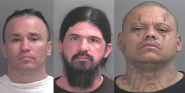 From left to right: Christopher Paschall, Timothy Ford, Julio Gonzales (Courtesy: Washington County Jail)