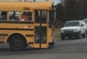 van buren kids on bus steps small cropped