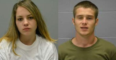 Jennifer Moss (right); Austin Moss (left), courtesy: Benton County Jail