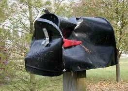 mailbox smashed