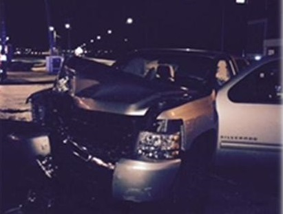 Image of the vehicle driven by the suspected drunk driver