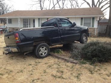 truck on rock