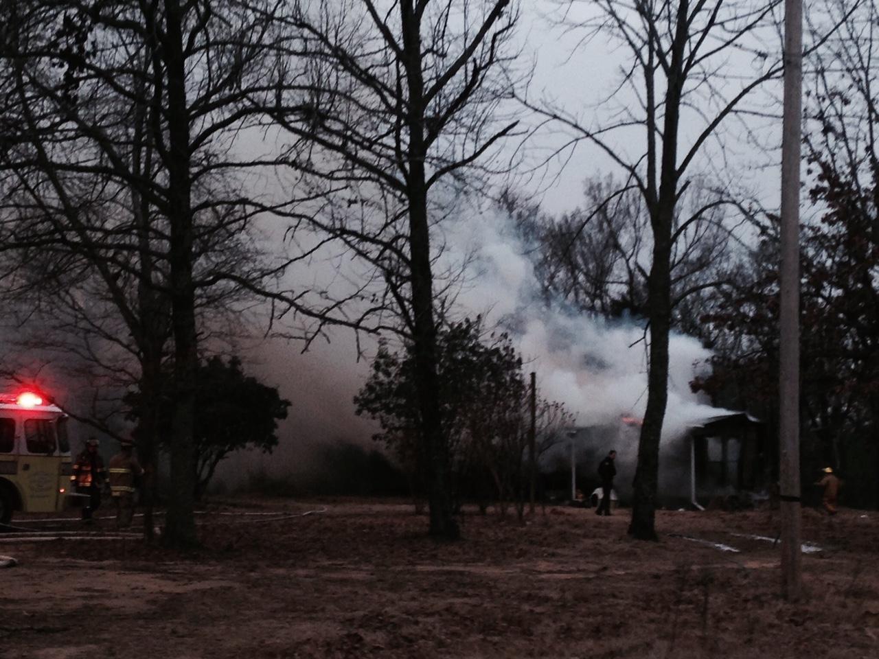 Crews battle Van Buren Fire