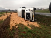 Semi Accident on Highway 83