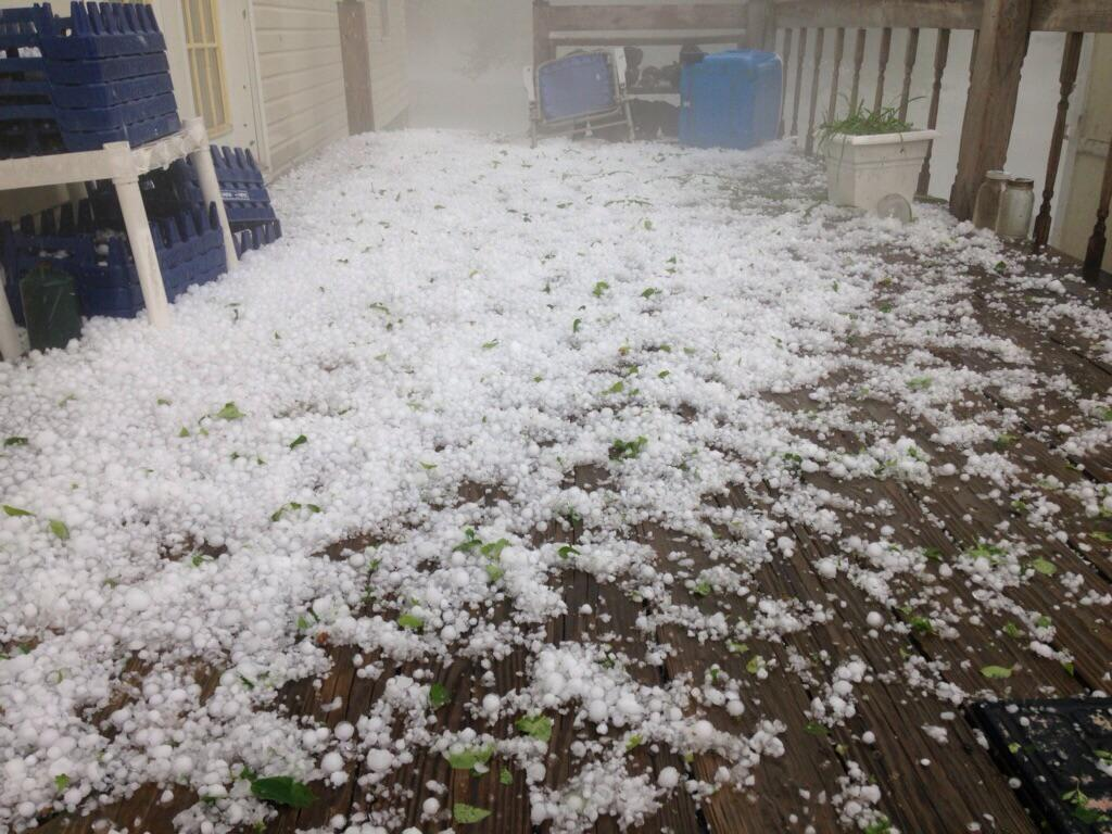 Hail in Witcherville, sent in by Amanda Moore