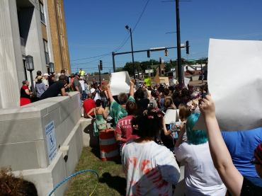 Courtesy: Nathan Wisdom.  The March for Marriage was held in Russellville on Saturday (April 25).