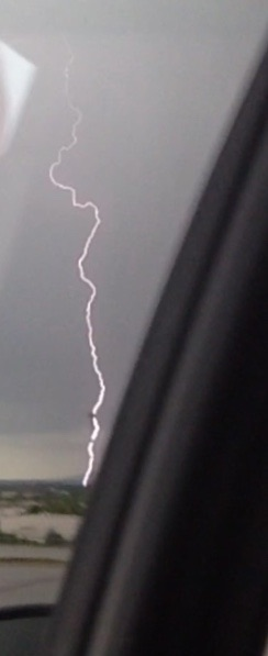 Lightning bolt in Fort Smith, sent in by Brody Holland