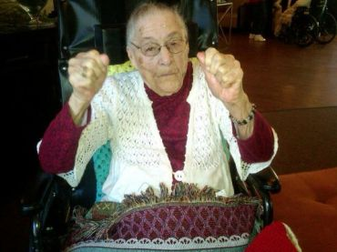 Gertrude Weaver on her 114th birthday. (Courtesy: robjh1 for CNN iReport)