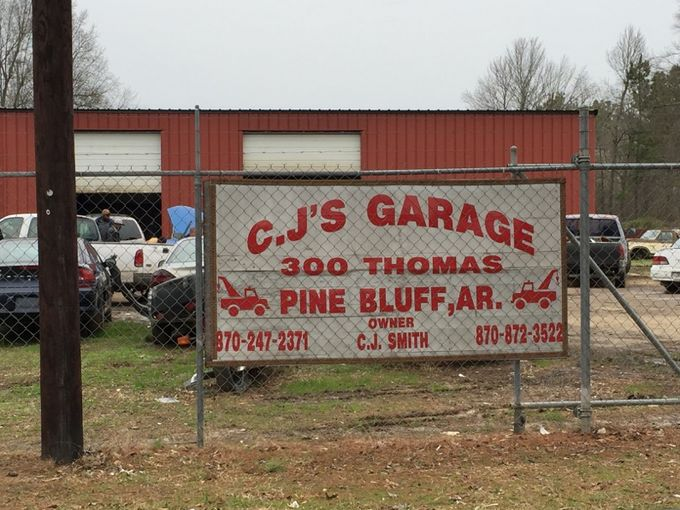 A man was mauled to death by a pack of pit bulls outside CJ's Garage in Pine Bluff.