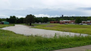 Recent rain has caused flooding in the River Valley. This photo is from Kimberly Boyd.