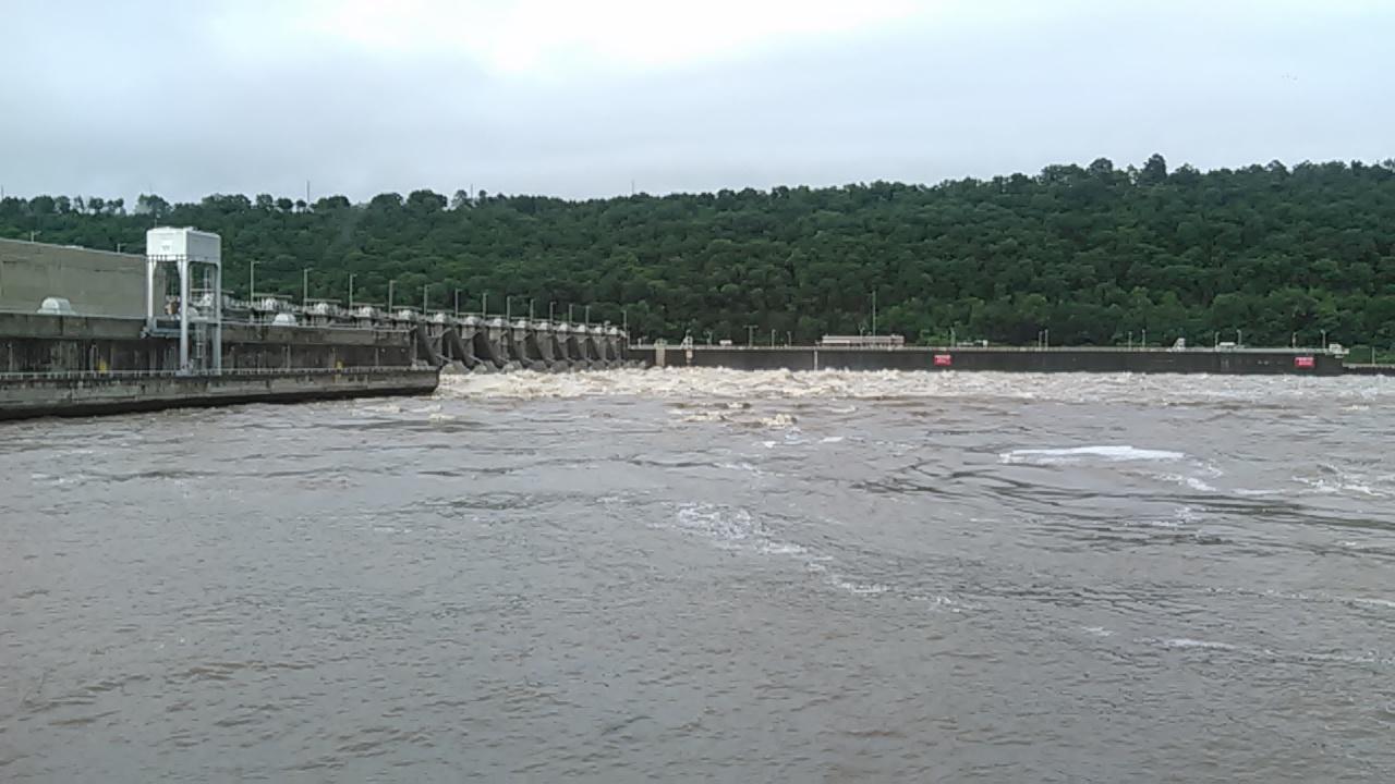 Arkansas River in Ozark