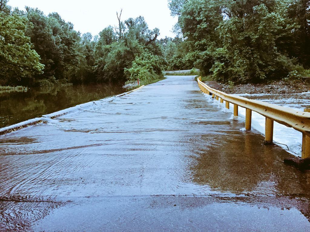 Ball Street flooded in Johnson.