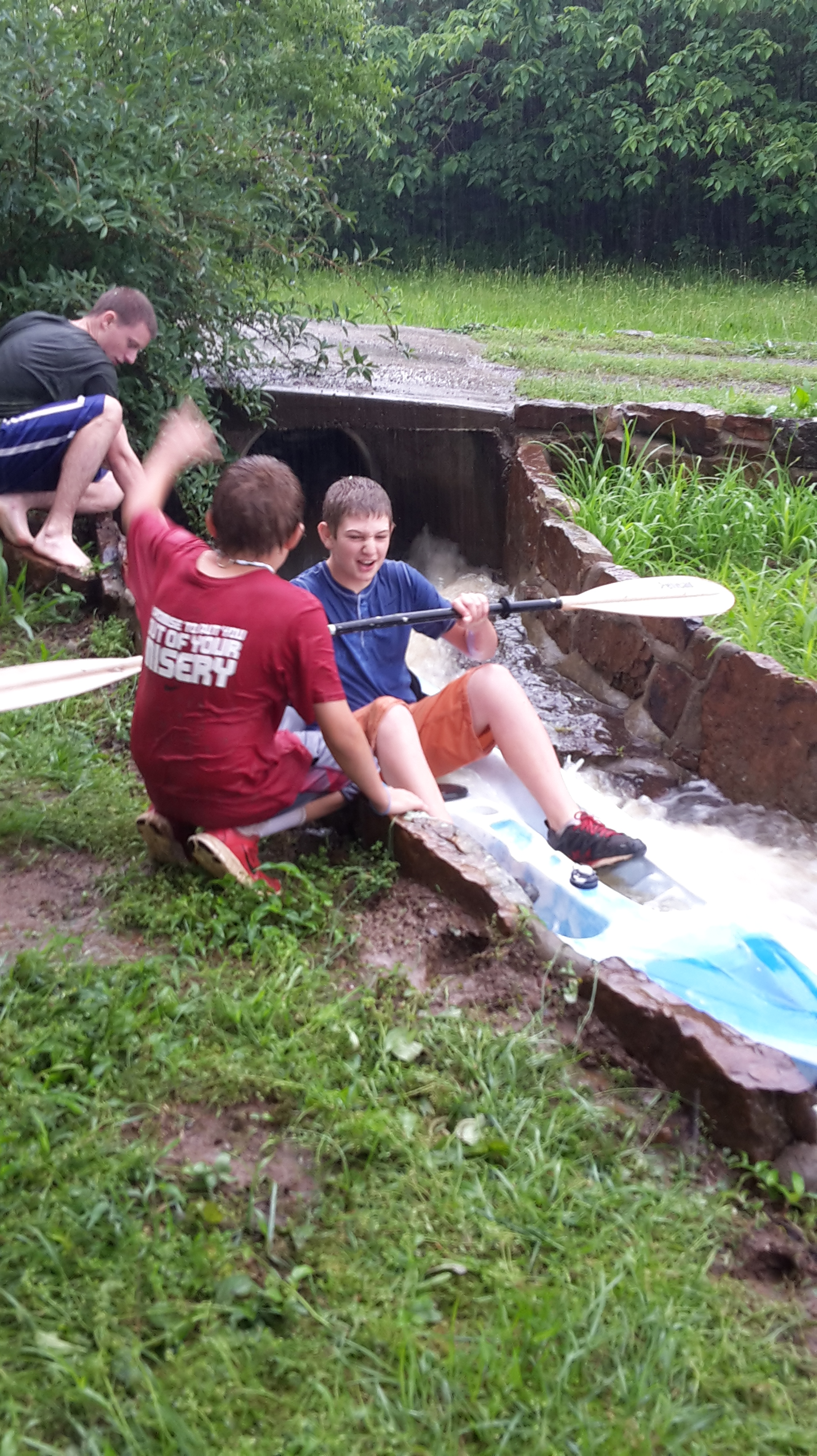 Kiddos making the best of the rainy days. Via 5NEWS viewer Matthew Byron