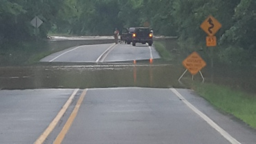 Flooding on Highway 23 at Turner Bend