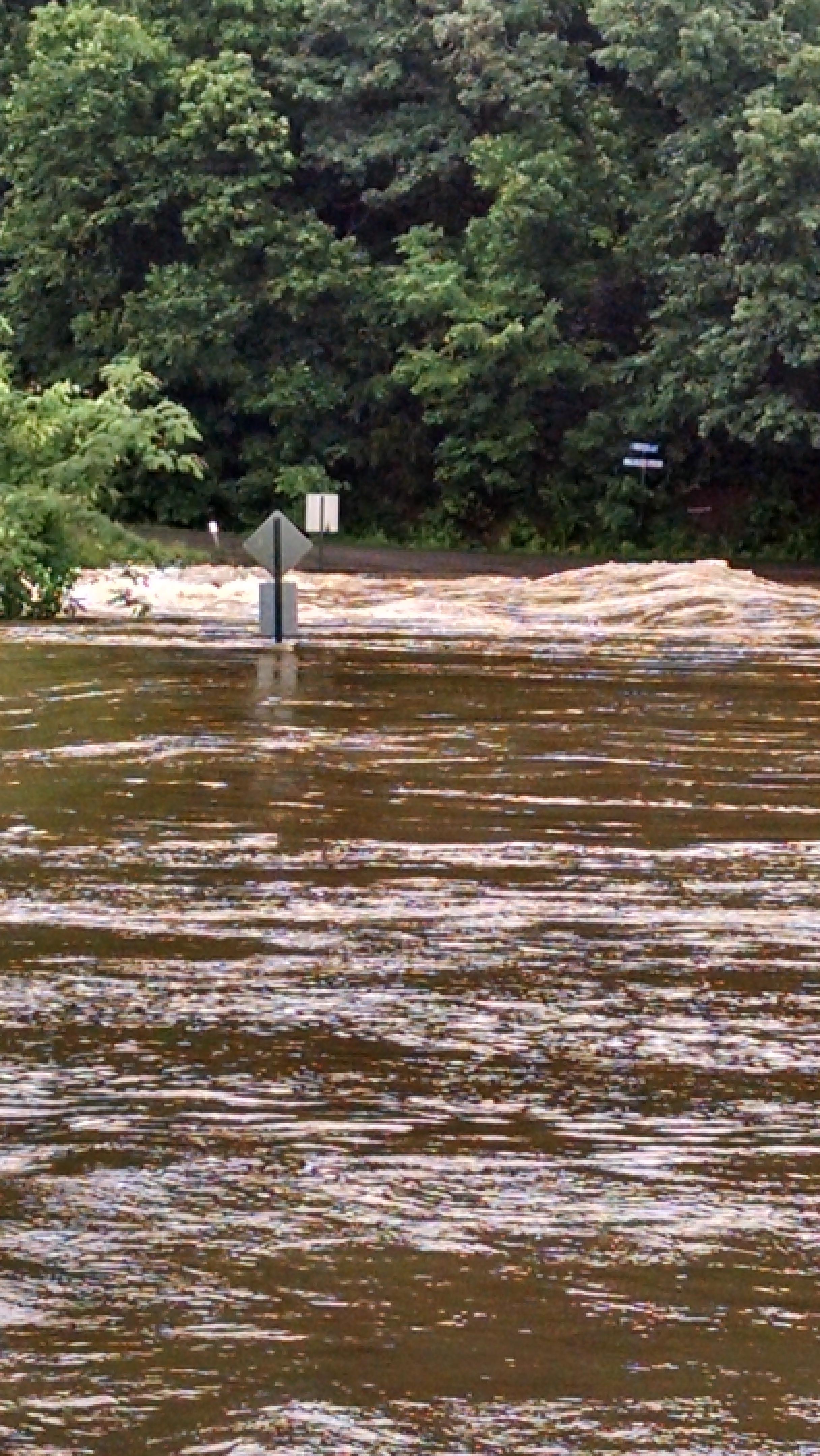 Frog Bayou bridge in Mountainburg frmo 5NEWS viewer Kolby Ingram