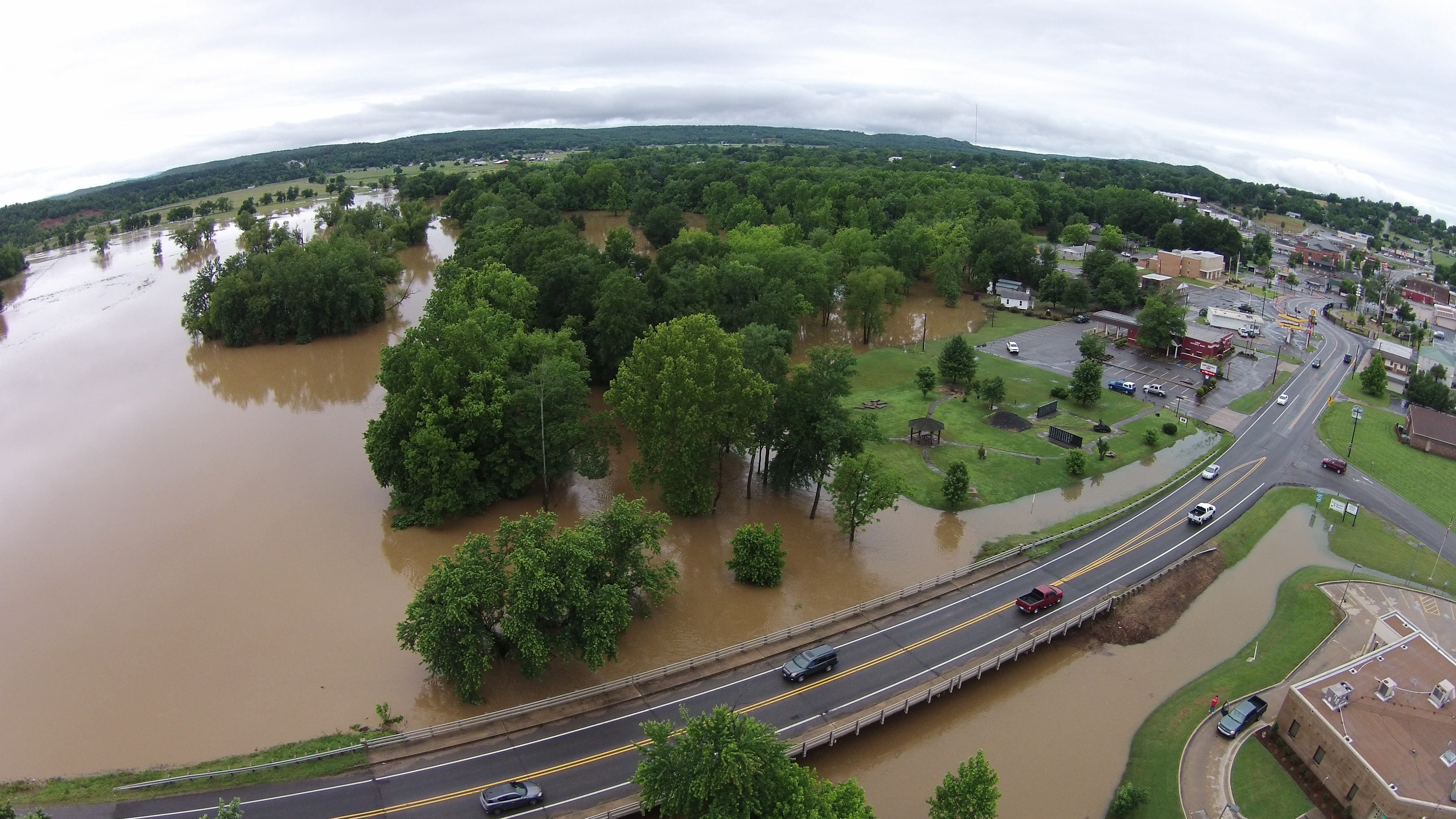 Drone over Greenwood from 5NEWS Garry Norman
