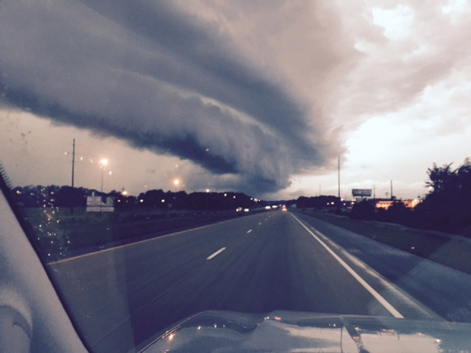 Shelf cloud over Interstate 40 in Clarksville from 5NEWS viewer Lesley Malik