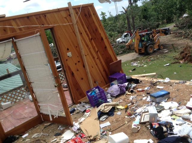 Home damaged in Poteau (Courtesy: James Gardner)