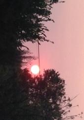 Sunrise June 30th from Poteau Oklahoma. Photo: Romona Deleplank