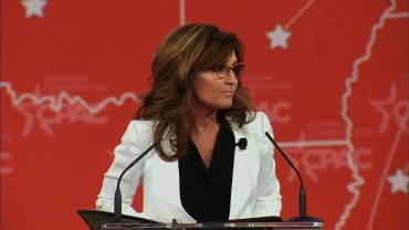 Former Alaska Governor Sarah Palin, (R-AK), speaks at Conservative Political Action Conference in Washington, D.C. on Feb. 26, 2015.