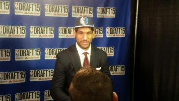 Satnam Singh interviewed at NBA Draft. Courtesy of NBA.