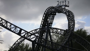 """The Smiler"" at Alton Towers Resort. Staffordshire, England"