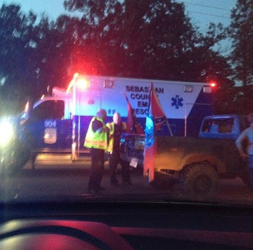 Accident at Greenwood Confederate Rally by Rachel Yates