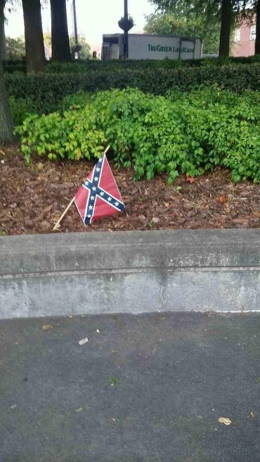 Confederate battle flags were found Thursday morning, July 30, 2015, on the grounds of Ebenezer Baptist Church and the King Center in Atlanta, police and church officials said. Ebenezer Baptist Church is best known as the church where the Rev. Dr. Martin Luther King, Jr. was baptized and where he, along with his father, served as a pastor. The King Center is a historical site adjacent to the church.