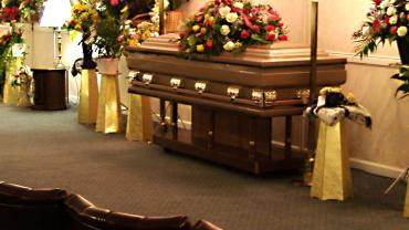 Funeral service and casket