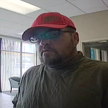 Bank robbery suspect, according to Bentonville police.