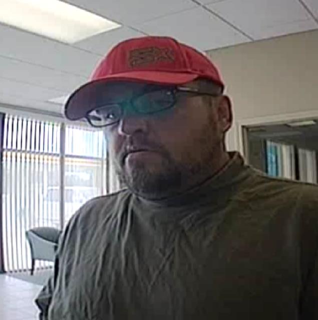 Bank robbery suspect, according to Bentonville police.