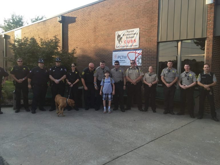 Son Of Fallen Officer Walked To Class On First Day By Law Enforcement ...