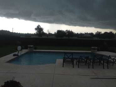 Thunderstorms 8-5-2015 in Elm Springs, AR. Photo: Marilyn Biggs