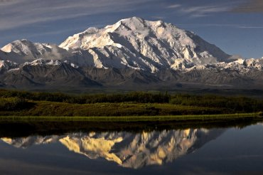 FILE -- A photograph of Mount McKinley, renamed Mount Denali by President Barack Obama on August 31, 2015, is the highest mountain peak in North America, with a summit of 20,237.